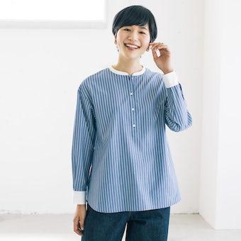 【今季終了】「ひとさじの甘さがちょうどいい」ストライプのシャツブラウスの商品写真
