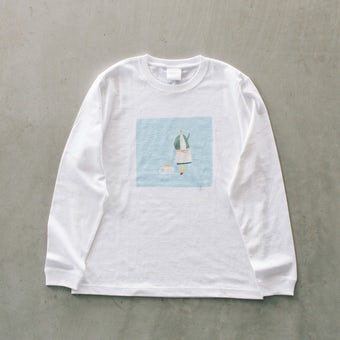 【次回入荷未定】『ひとりごとエプロン』ロングTシャツ / ダンシング・ガールの商品写真