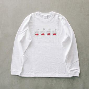 【次回入荷未定】『ひとりごとエプロン』ロングTシャツ / トマト缶の商品写真