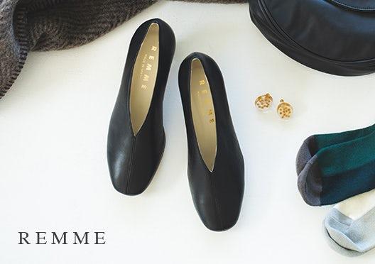 REMME / レメ / レザーパンプス(ブラック)の画像