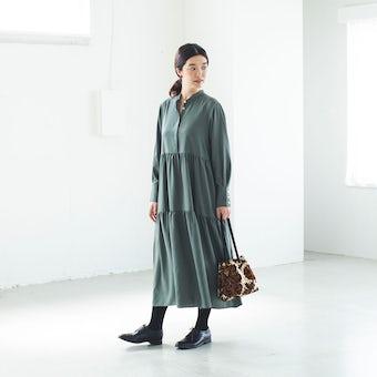 【今季終了】自分を甘やかす日のワンピース / オリーブの商品写真