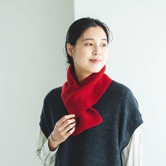 【今季終了】nest Robe / ネストローブ / ウールマフラー(レッド)の商品写真