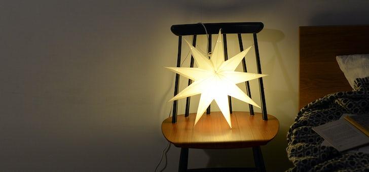 これからの季節が楽しみになる星型のライト