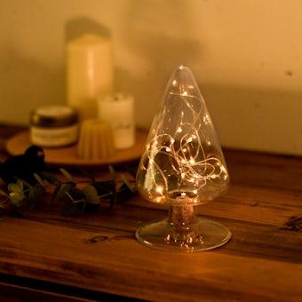 【取り扱い終了】ガラスの木のオブジェ(LEDライト付き)の商品写真