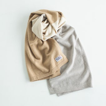 SCOTTISH TRADITION / スコティッシュ・トラディション / マフラーショール(ナチュラル)の商品写真