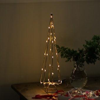 【今季終了】LEDライトのワイヤーツリー(ストレート)の商品写真