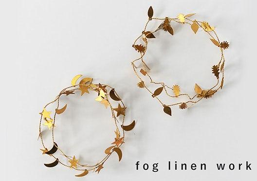 fog linen work / ガーランドの画像