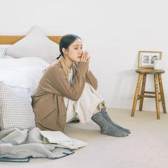 「家でのわたしも好きになる」 裏起毛の襟つきルームカーディガンの商品写真