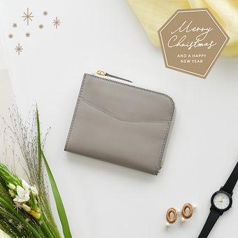 【クリスマス限定ギフトバッグ】「スリムに見えて収納上手」ミニ財布の商品写真