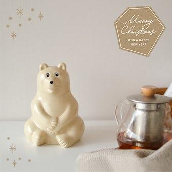 【クリスマス限定ギフトバッグ】白くま貯金箱 / Polar Bear Money BOXの商品写真