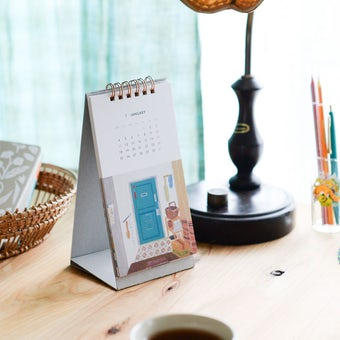 【30%OFF】「ひとりごとエプロン」卓上カレンダー2021の商品写真