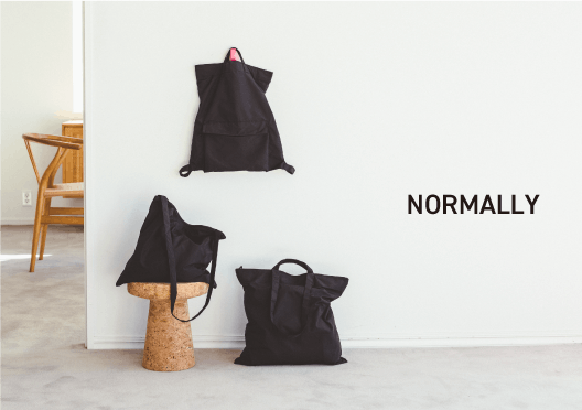 NORMALLY / 3種類のバッグの画像