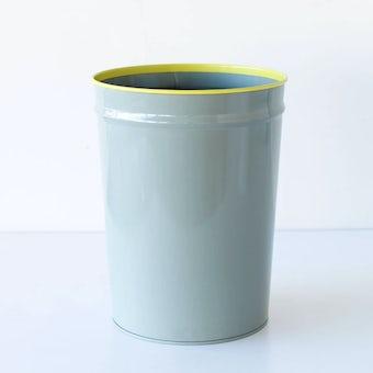 ぶんぶく/ごみ箱/グレー×イエローの商品写真