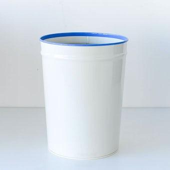 ぶんぶく/ごみ箱/アイボリー×ブルーの商品写真