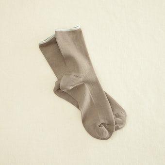 足元15cmの景色をつくる靴下 / mist(モカブラウン)の商品写真