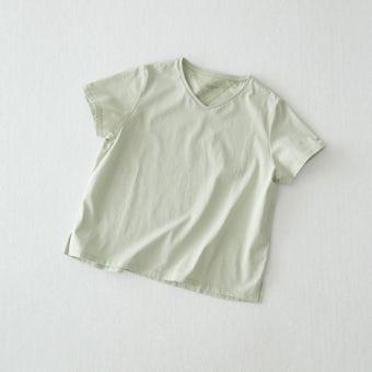 【今季終了】Tシャツ / Vネック(ミント)の商品写真
