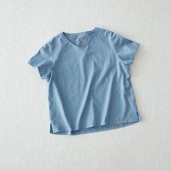 Tシャツ / Vネック(ブルー)の商品写真