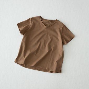 【今季終了】Tシャツ /  Vネック(ブラウン)の商品写真