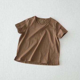 【今季終了】Tシャツ / Uネック(ブラウン)の商品写真
