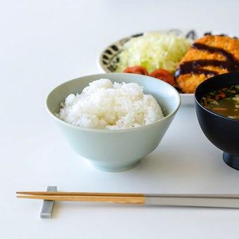 「平日夜のわたしの味方」食卓をやさしく彩るごはん茶碗 / 普通サイズ(12.7cm)/ ペールグリーンの商品写真