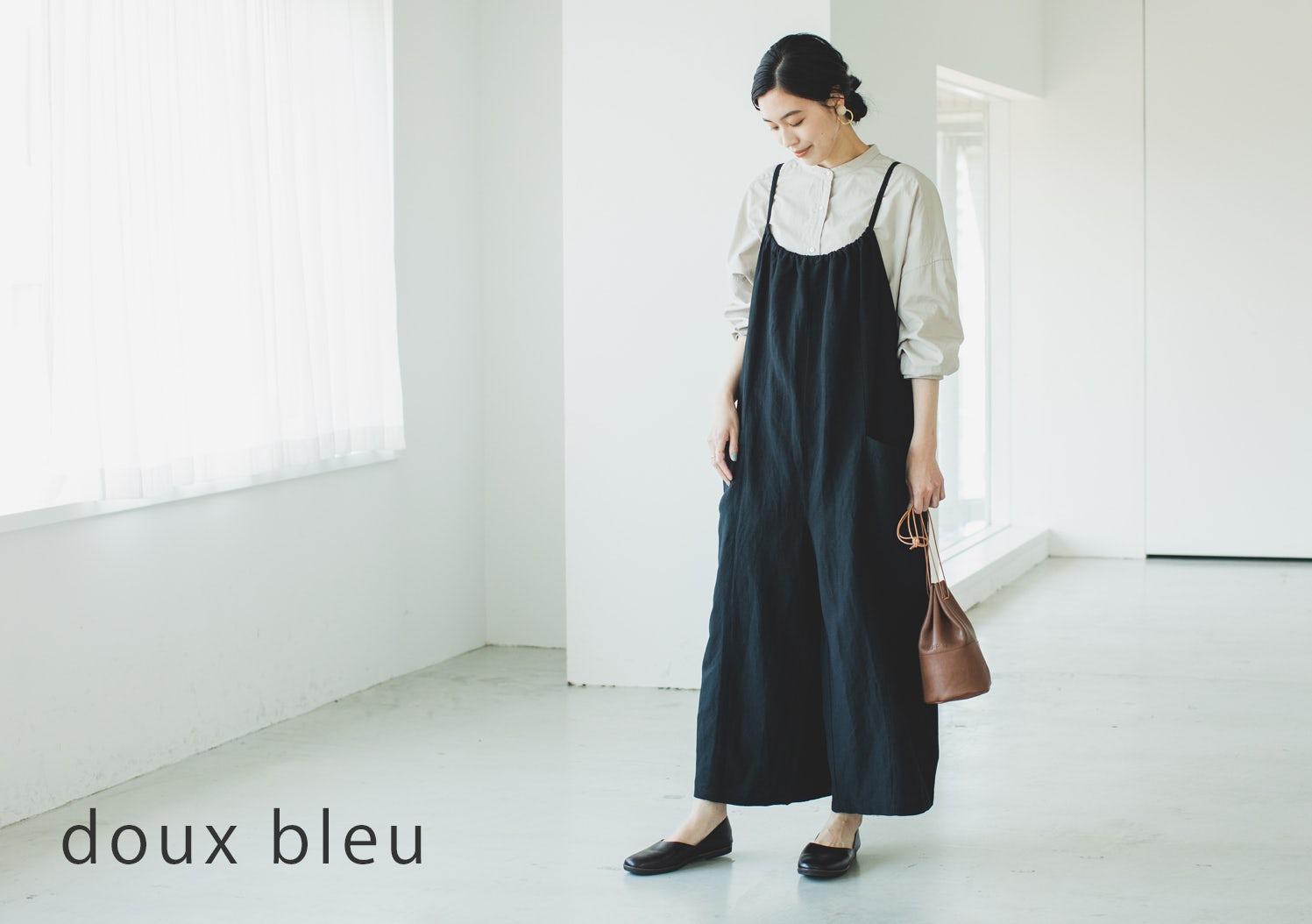 doux bleu / ドゥーブルー / レーヨンリネンサロペットの画像