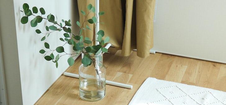 テクニックのいらないガラスの花瓶