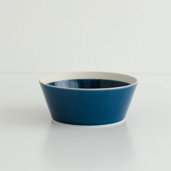 yumiko iihoshi porcelain × 木村硝子店 / dishes / ボウル (径12.5cm) /インクブルーの商品写真