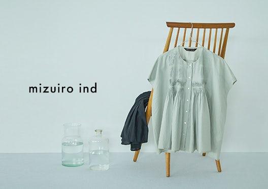 mizuiro ind / ミズイロインド / ピンタックブラウスの画像