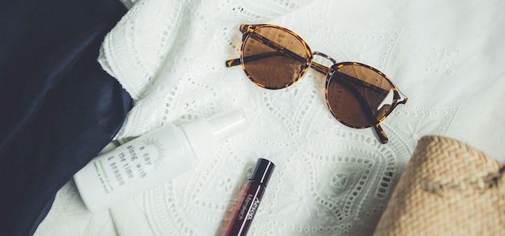 やさしい印象の、atelier bruggeのサングラス。