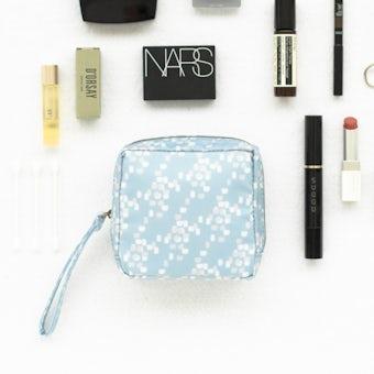 「いつも可愛くスッキリ叶う」メイクポーチ / ブルーの商品写真