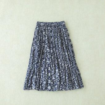 Soi-e / ソワ / 花柄コットンスカート(ネイビー)の商品写真