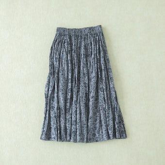 Soi-e / ソワ / 花柄コットンスカート(グレー)の商品写真