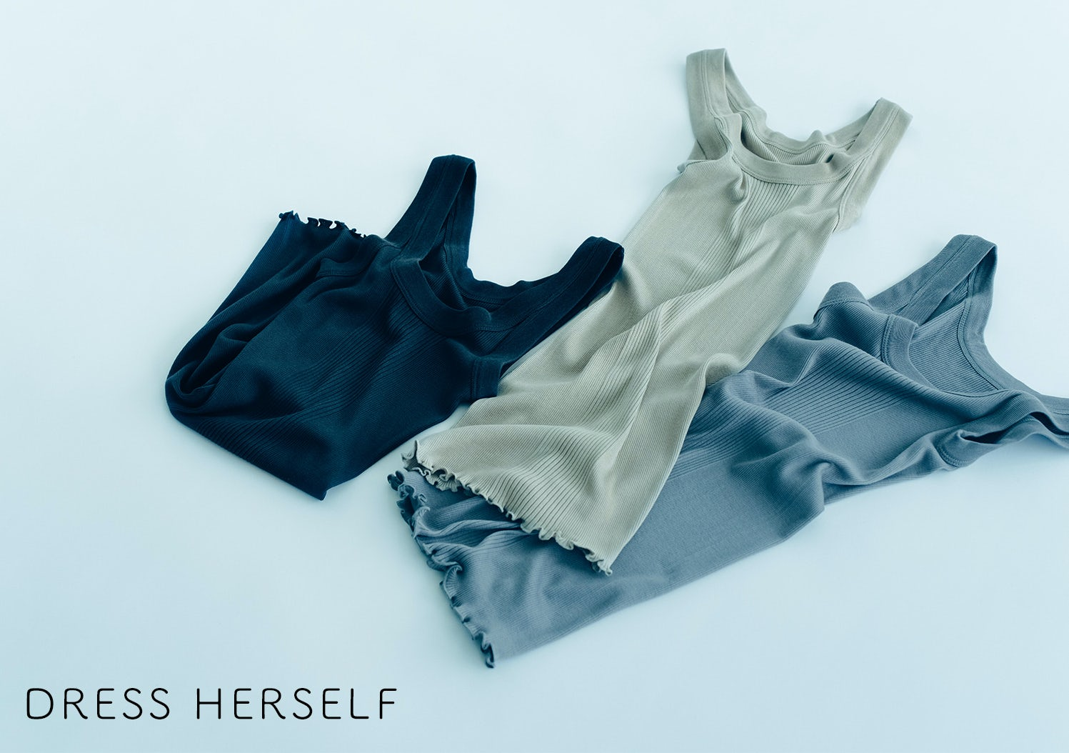 DRESS HERSELF / シルクリブインナーの画像