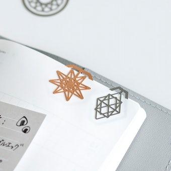 北欧のヒンメリモチーフのクリップセットの商品写真