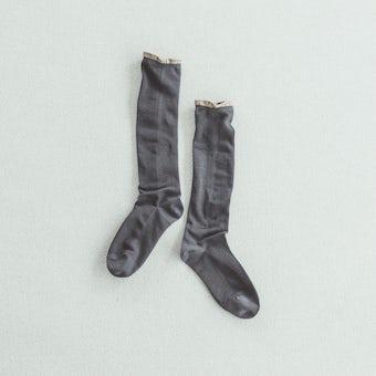 【今季終了】靴下 / ハイソックス / shower /(チャコールグレー)の商品写真