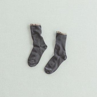 靴下 / shower(チャコールグレー)の商品写真