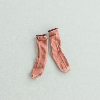 靴下 / shower(コーラルピンク)の商品写真