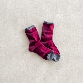 【取扱終了】靴下 / tone(ワインレッド)の商品写真