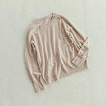 「今日はなに色?どのサイズ?」私の定番ベーシックニット / エクリュ / Mサイズの商品写真