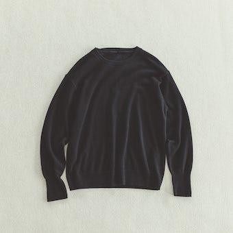 「今日はなに色?どのサイズ?」私の定番ベーシックニット / ブラック / Mサイズの商品写真