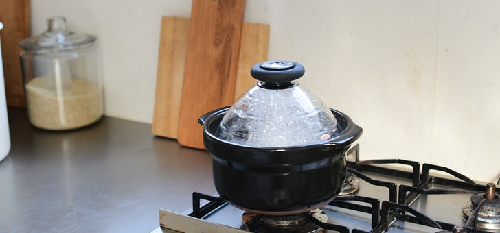 火加減の調節がいらない、HARIOの炊飯用土鍋