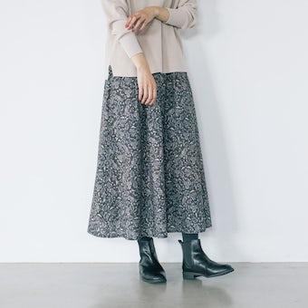 「暮らしに、ときめき」大人のための柄スカートの商品写真