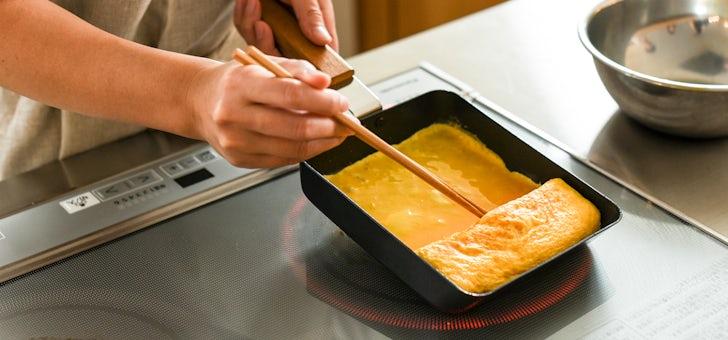 ふっくら焼ける卵焼きフライパン