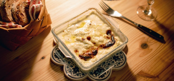 チーズがこびりつかない、耐熱ガラスの器